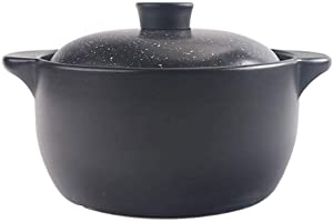 Casserole cookware Round Covered Casserole - Non-Stick Ceramic - Heat-Resistant - Large Slow Cooker with Two Handles and lids Ideal for Cooking handicrafts or Baking (Size: 2 l)