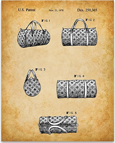 Tag Luggage Louis Vuitton (Louis Vuitton Handbag Patent - 11x14 Unframed Patent Print - Great Gift for Louis Vuitton Fans and Collectors)