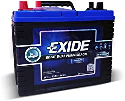Exide Edge FP-AGM24DP Flat Plate AGM Sealed Marine Battery