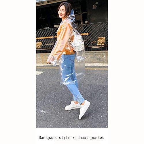 LL レインコート、ファッション女性透明なレインコート成人ハイキングアウトドア旅行釣りポンチョ (版 ばん : B)