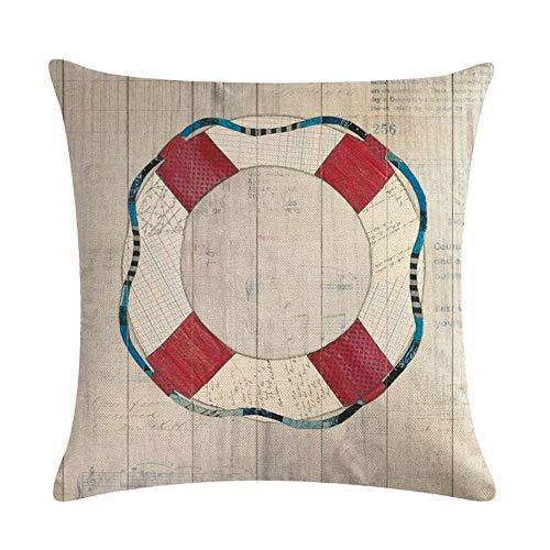 GTQC New Anchor Rudder Combination Series Linen Pillowcase Cushion Cover 13 4545cm