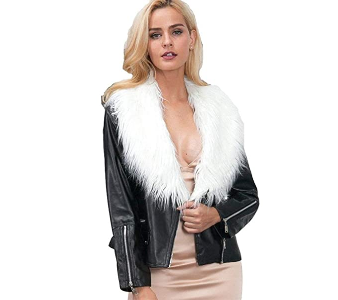 new styles b708f 7e74a Giacca Pelle Donna Prodotto Plus Giacca in Similpelle con ...