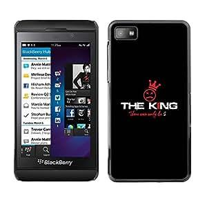 PC/Aluminum Funda Carcasa protectora para Blackberry Z10 The King / JUSTGO PHONE PROTECTOR