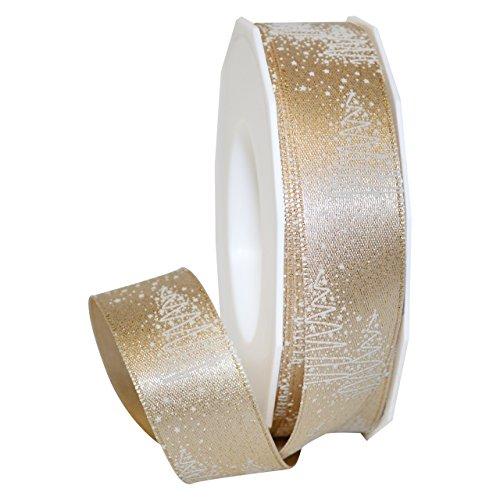 "Morex Ribbon 69725/20-634 Torino Polyester Ribbon, 1"" x 22 yd, Gold"