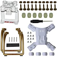 Spare Part for Hubsan H501S X4 H501C FPV Quad, Update Landing Gear Legs & Action Camera Gimbal Mount Holder Adapter Bracket, Brown