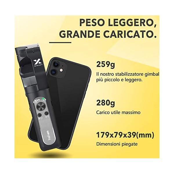 Gimbal Smartphone – Hohem 3 Assi Stabilizzatore Smartphone Portatile con 5 Modalità per Vlog/Youtuber, Stabilizzatore Video Caricamento 280g per Iphone 12/11/Xs Max/Samsung Galaxy/Huaiwei/Xiaomi etc 2 spesavip