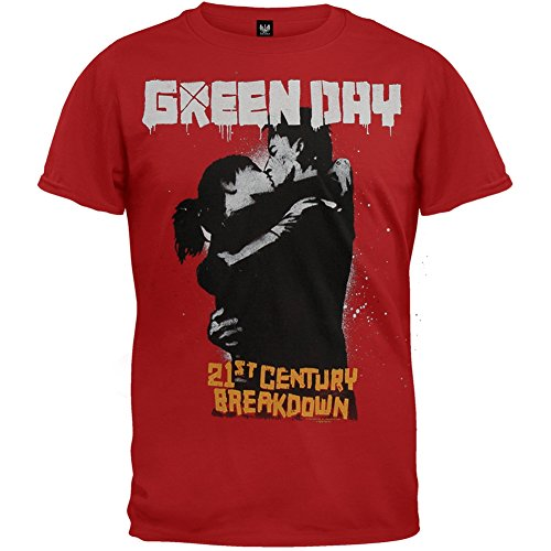 Green Day - Kiss 09 Tour T-Shirt, Red, (2010 T-shirt)