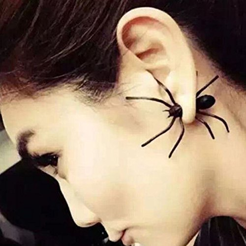 1pc Punk Women MEN Black Spider Ear Stud Cosplay Party Earrings Jewelry Gift (Cosplay Shop)