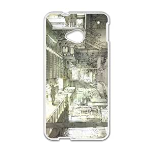 Intricate Building Anime HTC One M7 Cell Phone Case White DIY Ornaments xxy002-3667026