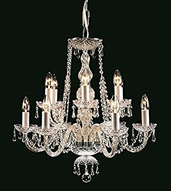MODRA - TWELVE LIGHT CHROME & CRYSTAL CHANDELIER - IMPEX CP00071/12/CH