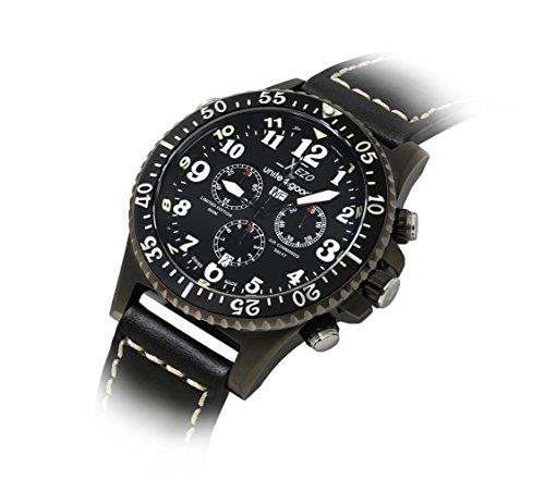Xezo Men's AIR Commando D45-LB Swiss-Quartz Pilots Diver Watch (Zodiac Watch)