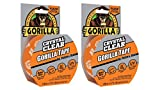 Gorilla 6027016 Tape, Crystal Clear Duct Tape, 1.88'' x 9 yd, Clear, (Pack of 2)