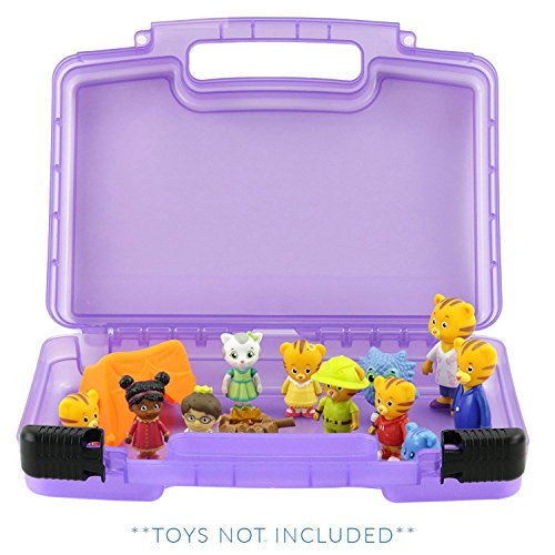 (Life Made Better Carrying Case Compatible, Daniel Tiger Figurines and Accessories Organizer and Carrying Case)