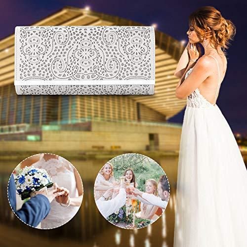 a7093ae24cb58f Womens Faux Leather Envelope Clutch Bag Evening Handbag Wedding Party Dress  Purse.(silver-1)