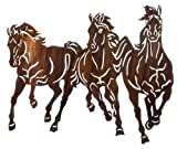 22'' Thunderstorm (Horses) Metal Wall Art