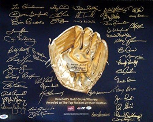hed Photograph - Gold Glove Winners 16x20 45 Sigs 10729 - PSA/DNA Certified - Autographed MLB Photos ()