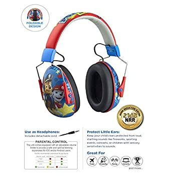 Paw Patrol Kids Ear Protectors Earmuffs Toddler Ear Protection and Headphones 2 in 1 Noise Reduction Headphones for Kids Ultra Lightweight Adjustable Safe Sound Great for Concerts Shows and More