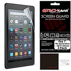 TECHGEAR [2 Pack Anti Glare Screen Protectors for All New Amazon Fire 7″ & Fire Kids Edition 7″ (9th Generation / 2019) – Premium Matte Screen Protector Covers for Fire 7 2019