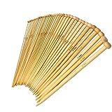 BetyBedy Knitting Needles Set 18-Pairs Bamboo 9