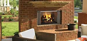 "36"" Outdoor Villawood Wood Fireplace w/Herringbone Refractory"