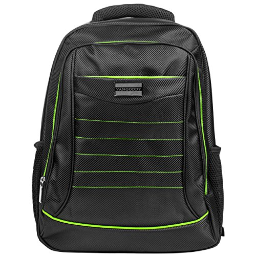 Bravo Notebooks - Vangoddy Bravo Laptop Backpack for Most Laptops up to 15.6-Inch, Black/Green (VGBravoBLKGRN)
