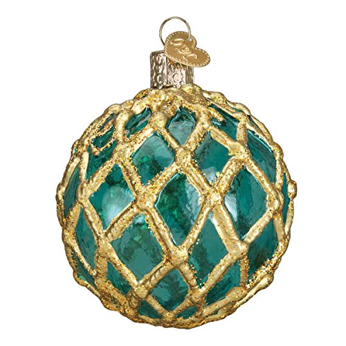 - Old World Christmas Glass Blown Ornament with S-Hook and Gift Box, Fish Collection (Glass fishing Float)