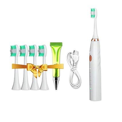 qzp Cepillo De Dientes Eléctrico Onda De Sonido para Adultos Carga Automática Resistente Al Agua Vibración