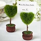 Unique Heart Design Topiary Potted Place Card Holder Table Card Holder photo holder (100)