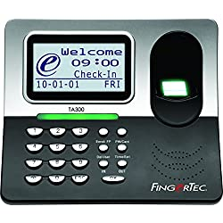 Fingertec TA300 Desktop Time Clock & Attendance Fingerprint Terminal Totally Portable for on The Go Training Centers, Trade Shows & Construction Workers