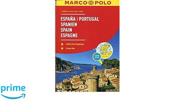 Spanje - Portugal Wegenatlas Marco Polo: Wegenatlas 1:300 000 ...