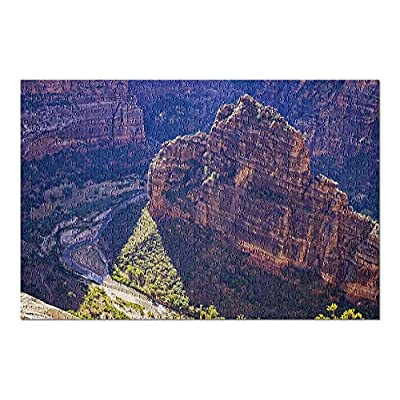 Zion National Park, Utah - Angels Landing Trail - Photography A-91634 (Premium 500 Piece Jigsaw Puzzle for Adults, 13x19, Made in USA!): Toys & Games