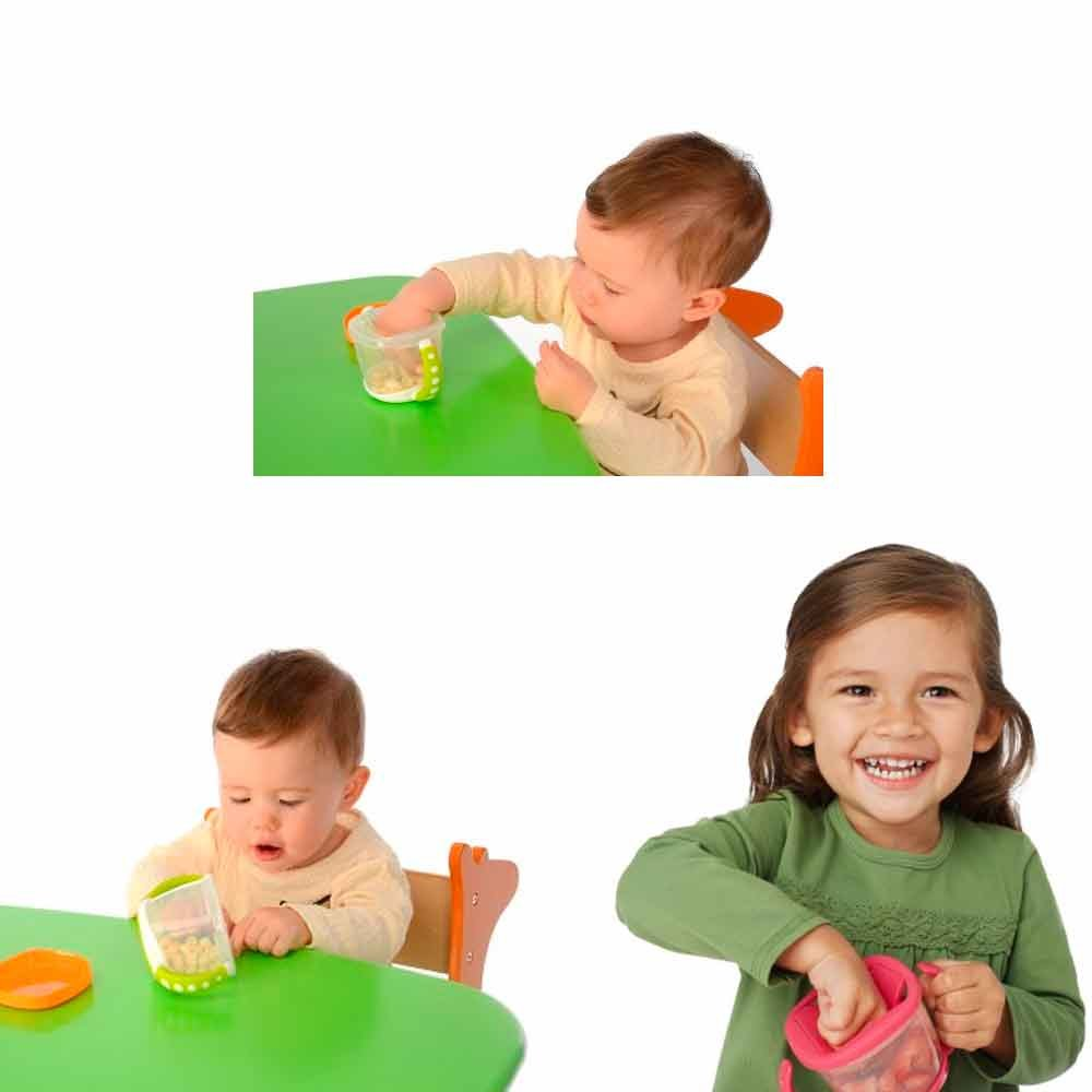 Amazon.com : 1 Gerber Active Snacker Baby Toddler No Spill Snack Bowl Cup Container BPA Free : Baby