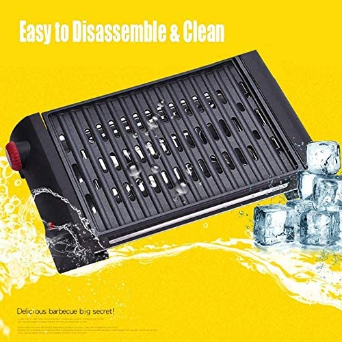 LEILEI Gril électrique Portable,Barbecue,Gril électrique sans fumée,Gril électrique sans fumée,température réglable,bac d'égouttement de Graisse Durable