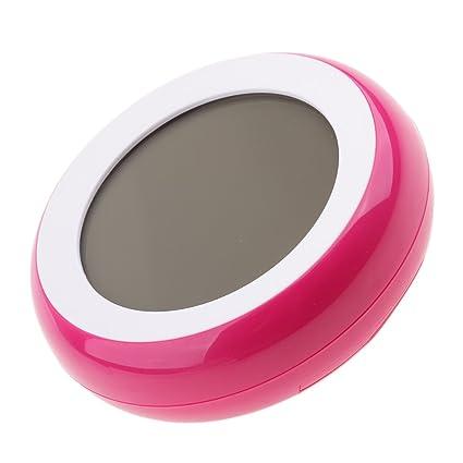Sharplace Termómetro Digital Temperatura Higrómetro Sensor de Humedad Pantalla Tàctil - Rosa