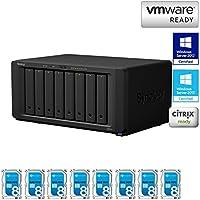 Synology Disk Station DS1817+ 8G 8-Bay NAS, 8x8TB (64TB) Seagate NAS HDD Installed, Hybrid RAID Built, EV-DS1817+8G64N, w/ All-Systems-Go-by Evodo