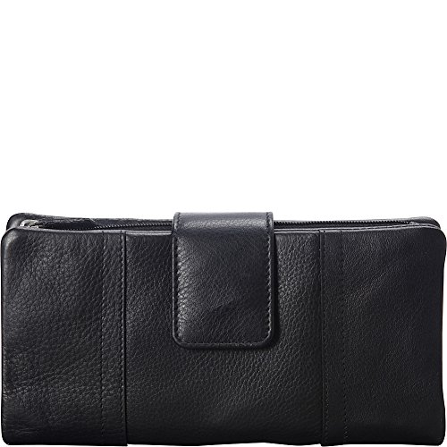 mancini-leather-goods-rfid-secure-collection-ladies-large-clutch-wallet-black