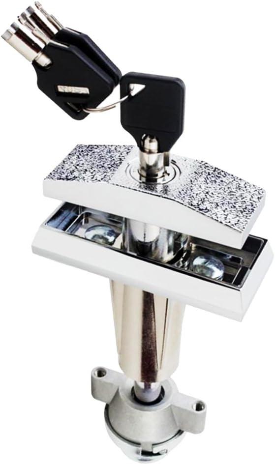 Cerradura Universal de M/áquina Expendedora de Bebidas Bocadillo Enchufe de Bloqueo de Reemplazo con 3 Piezas Clave