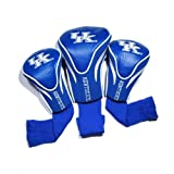 Team Golf NCAA Kentucky Wildcats Contour Golf Club Headcovers (3 Count), Numbered 1, 3, & X, Fits Oversized Drivers, Utility, Rescue & Fairway Clubs, Velour lined for Extra Club Protection