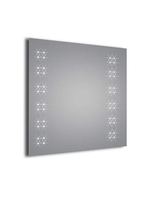specchio da bagno illuminato con LED - Agape 37s altezza:600 x w:600 ...