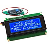 Industry Park Blue Backlight LCD Module with IIC/I2C/TWI 2004 Serial Interface for Arduino UNO R3 MEGA2560 20 X 4, 2004