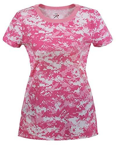 Rothco Womens Long Length Camo T-Shirt, L, Pink Digital Camo