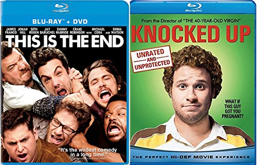 This is the End + Knocked Up 2 Disc Unrated Collector's Edition Comedy Feature Blu Ray Fun Double Feature movie Set Combo Edition