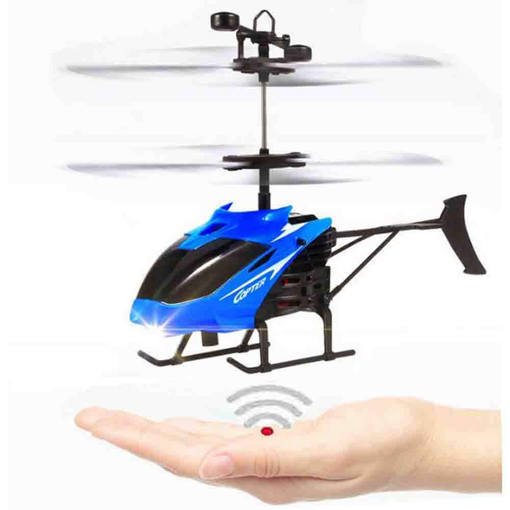NiGHT LiONS TECH Novelty Rc Helicopter Toy, Hand Induction Flying Aircraft Electric Helicopters Toys with LED Lights for Kids,Teenagers Outdoor Indoor Games Toys Gifts