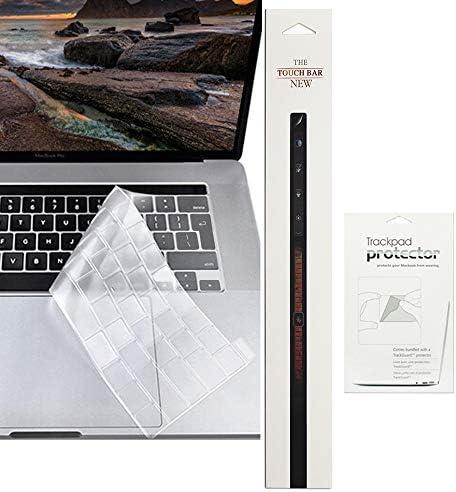 ProElife Tastatur-Abdeckung für MacBook Pro 16 Zoll 2019, ultradünne TPU-Tastatur-Schutzfolie für neues MacBook Pro 16 Zoll mit Touch Bar / Touch ID A2141 2019 (EU/UK Layout Tastatur) (klar)