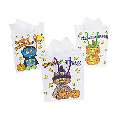Fun Express - Cyo Halloween Bags for Halloween - Craft Kits - CYO - Fuzzy - Misc CYO - Fuzzy - Halloween - 12 Pieces -