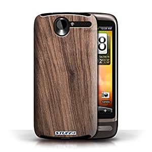 KOBALT? Protective Hard Back Phone Case / Cover for HTC Desire G7 | Walnut Design | Wood Grain Effect/Pattern Collection by lolosakes