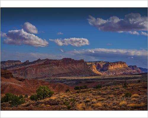 Media Storehouse 10x8 Print of A Scenic View at Capital Reef National Park in Utah, Western United States (12474821)