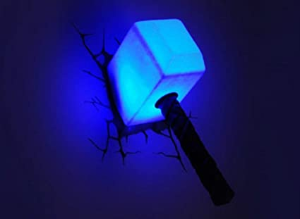 Amazon hot collection 2016 marvel avengers thor hammer hot collection 2016 marvel avengers thor hammer mjolnir 3d deco wall led night light aloadofball Gallery