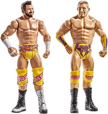 WWE- Pack de 2 Figuras básicas con Accesorio Mojo Rawley/Zack Ryder (Mattel Spain DXG42): Amazon.es: Juguetes y juegos