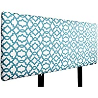 MJL Furniture Designs Alice Padded Bedroom Headboard Contemporary Styled Bedroom Décor, Sheffield Series Headboard, Village Blue Finish, California King Sized, USA Made